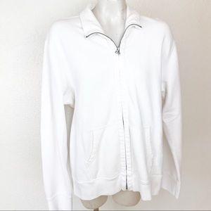 JCrew Vintage Fleece zip up sweatshirt Large. A093